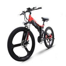 26incch elétrica mountain bike fold frame 48v400w motor de alta velocidade escondida bateria de lítio bicicleta elétrica emtb