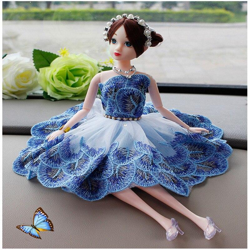30CM muñeca niña vestir accesorios ropa boda violeta Pavo Real conjunto de vestido de princesa coche BJD muñeca de juguete para Niña Accesorios de ropa