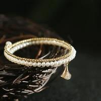 green purple fresh water white small pearls cuff bangles for girl birthday gifts womens minimalism jewelry handmade bracelet
