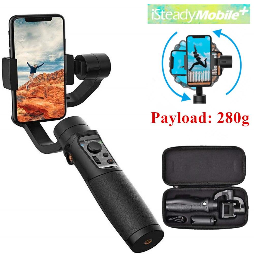 Estabilizador de cardán Hohem istead Mobile Plus de 3 ejes para teléfono inteligente iPhone11Pro/ Max , para teléfonos inteligentes Android, carga útil de 280g