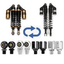 1 Pair Eye Diameter 10mm 12mm Copper Rings Motorcycle Accessories Air Shock Absorber Rear Replace Adapter U Fork End Head D10
