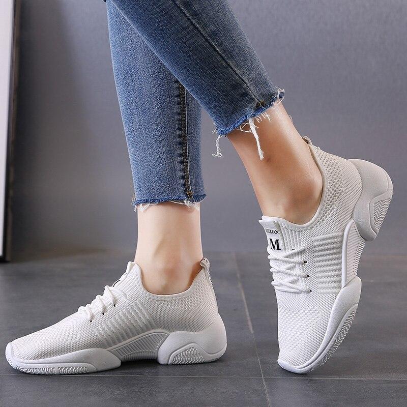 Tenis Feminino 2020 Luxury Brand New Pink Light Soft Sport Shoes Women Tennis Shoes Ladies Stability Walking Sneakers Trainers