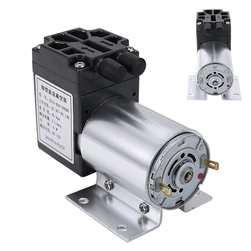 new arrival high flow 13l min 12v dc 80w electric oil suction pump DC 12V 5L/min Mini Vacuum Air Pump High Pressure Suction Diaphragm Micro Pumps with Holder For Industry Tools