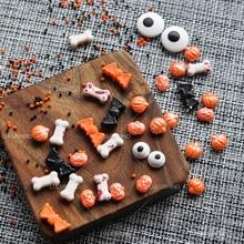 Perles sucre Cupcake série Halloween pâtisserie   Décoration de pâtisserie, Cupcake couleurs naturelles pures os de sang drôles, citrouille chauve-souris sucre, perles aiguilles
