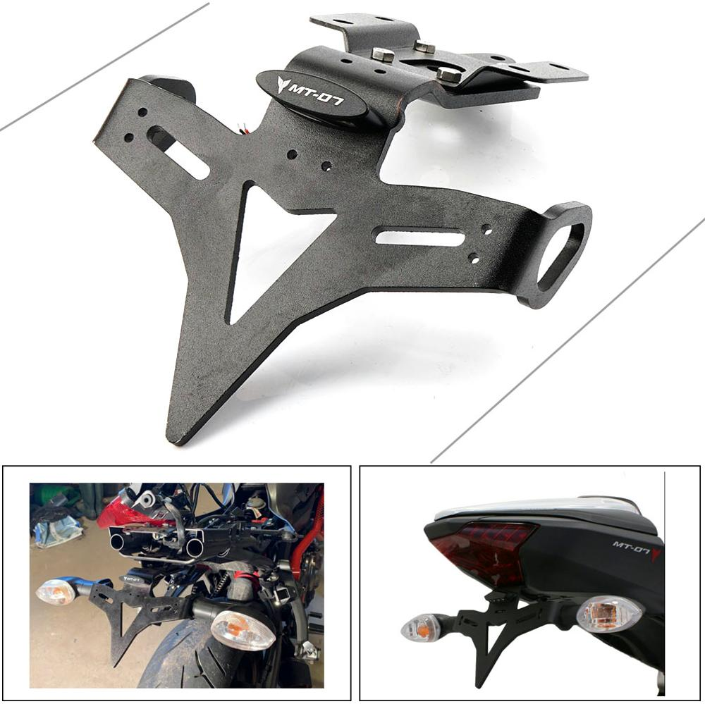 Para Yamaha MT07 FZ07 MT 07 FZ 07 2013-2019 soporte de placa de matrícula trasera de motocicleta eliminator