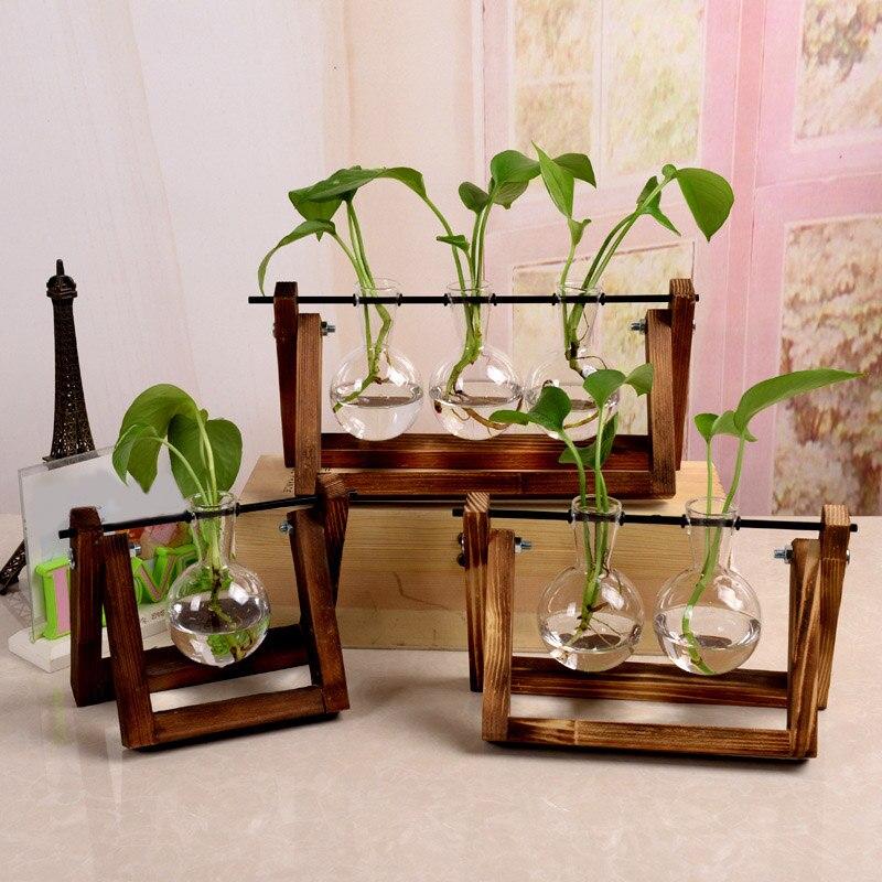 1 Uds casa decoración jarrones de vidrio Macetas Decorativas mesa de estante...