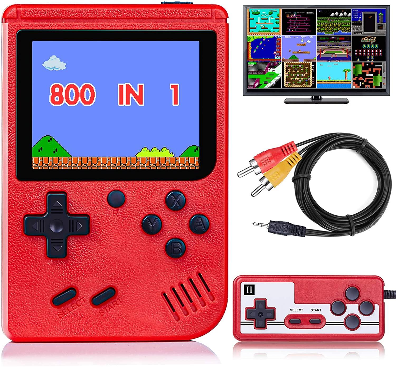 3-дюймовая портативная игровая мини-консоль со встроенными 800 классическими играми, портативная игровая консоль в ретро стиле, Игровая прис...