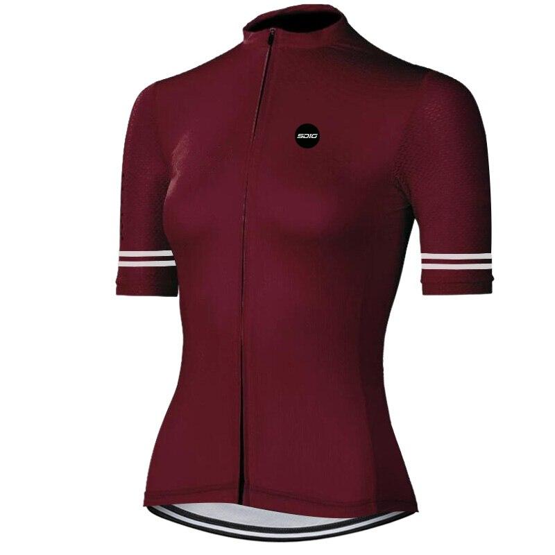 Camiseta de ciclismo para mujeres de calidad superior de equipo profesional de manga corta de ajuste apretado camisetas de ciclismo de carretera