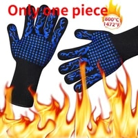 one piece grilling gloves food grade kitchen barbecue oven glove protective gear heat resistant silicone cook baking gloves
