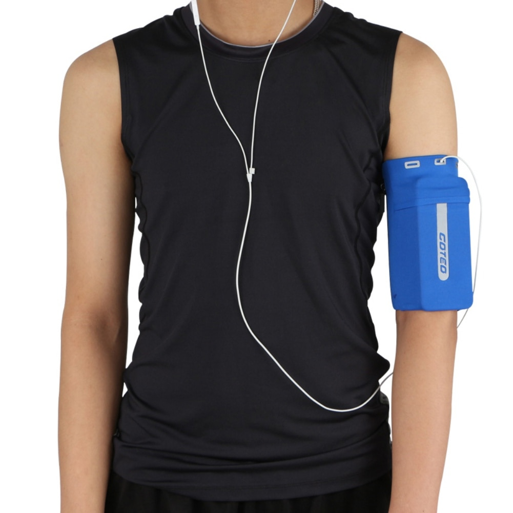 Running Mobile Phone Arm Bag with Headset Holes Elastic Arms Set Body Sports Sleeves Reflective Wrist Bag Outdoor Sports
