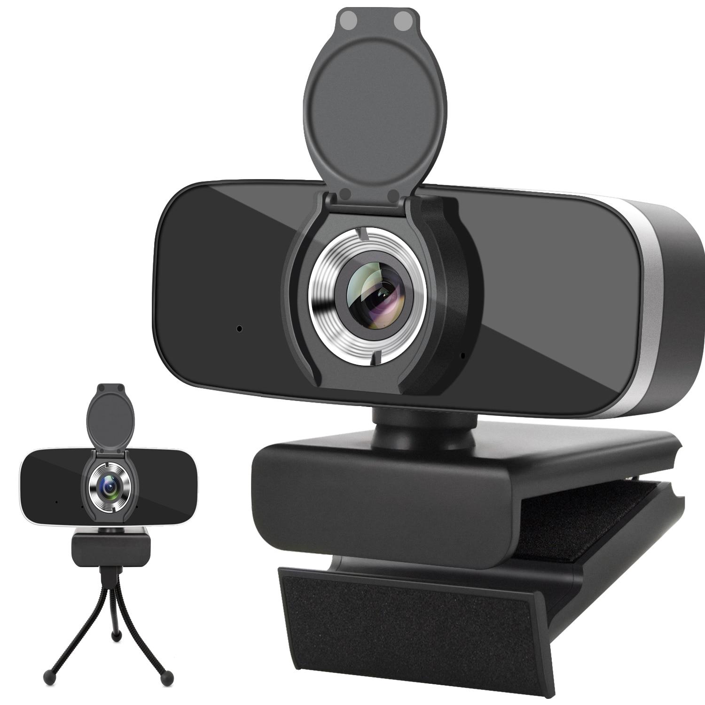 Webcam avec Microphone, 30FPS Full HD 1080P Webcam caméra vidéo pour ordinateurs PC portable, conférence, appel vidéo, Streaming en direct