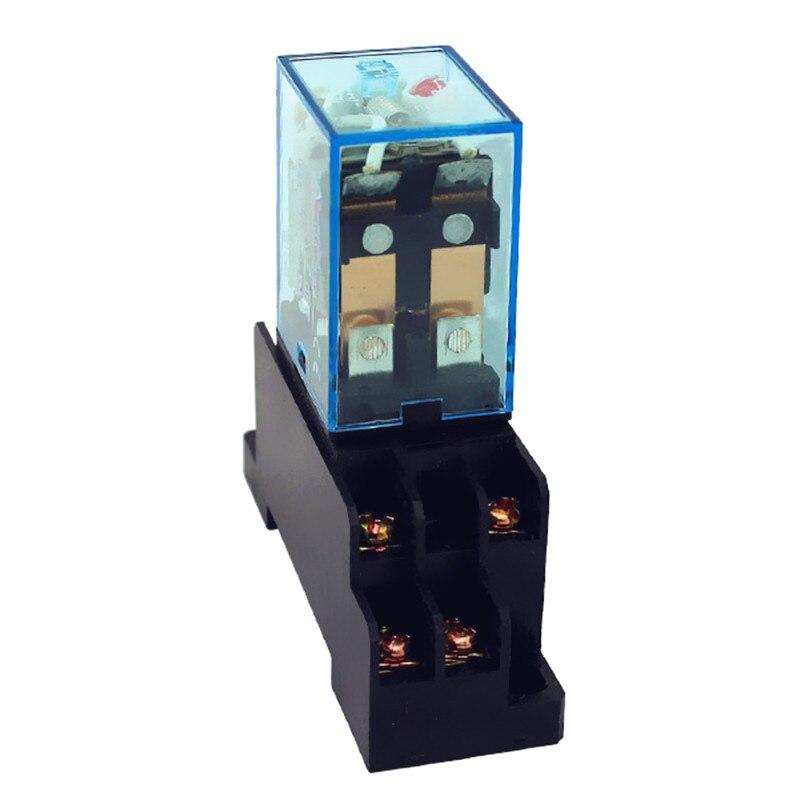 Relais LY2 LY2NJ (5pc) JQX-13F alta calidad HH62P mini rele 12v 24v dc 220v ac 10a relé electrónico con base de enchufe
