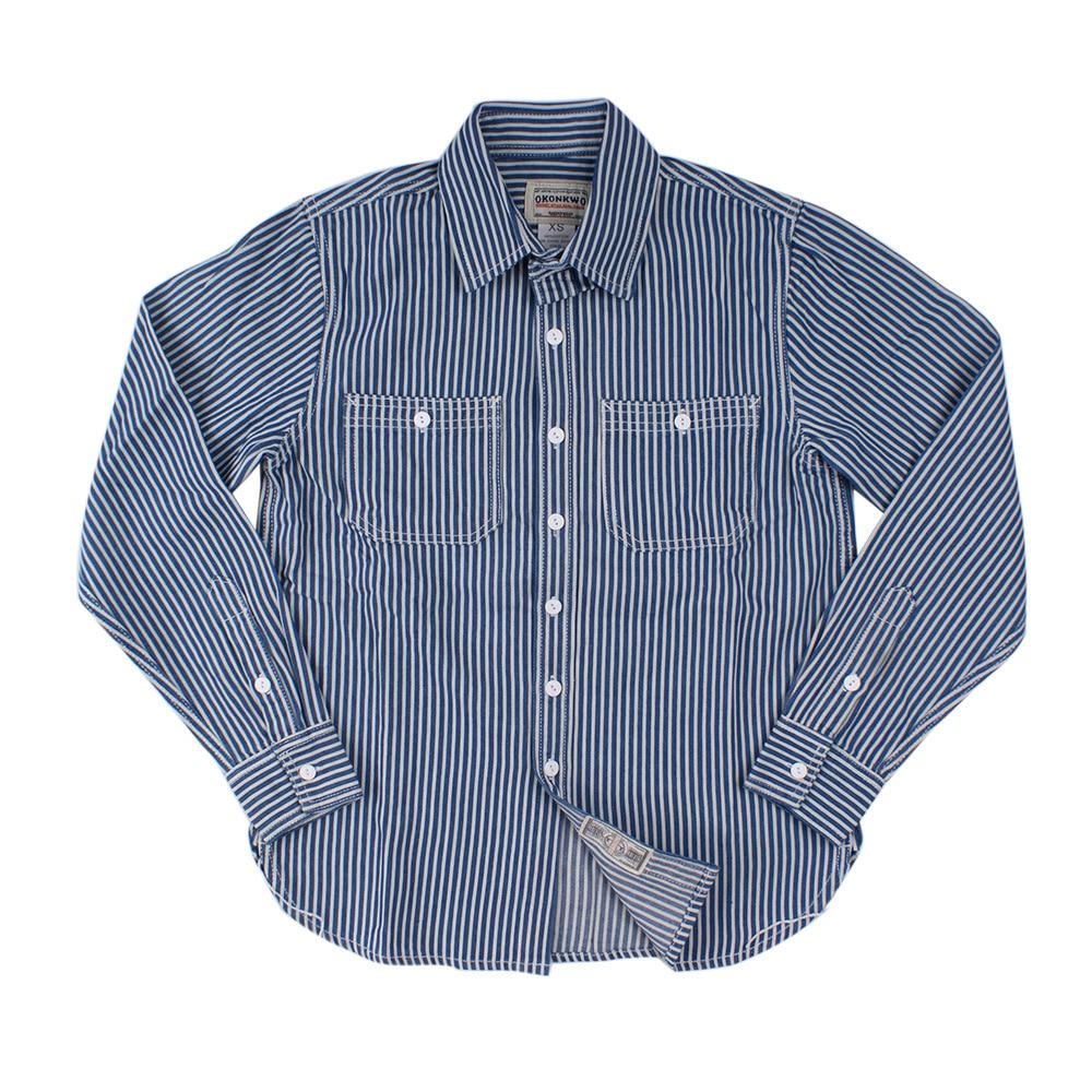 Frete grátis. moda nova listra vertical camisas masculinas, japão manga longa magro shirt.100 % algodão safari roupas. jeans wear