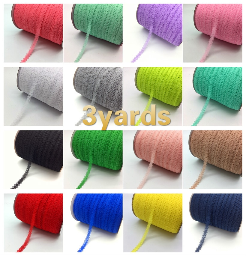 3yards beautiful lace ribbon DIY hand children's clothing underwear wedding dress women's wear accessories lace fabric 15mm 110cm wide wedding dress lace embroidery diy women clothes materials clothing fabric accessories ivory white church happy hour
