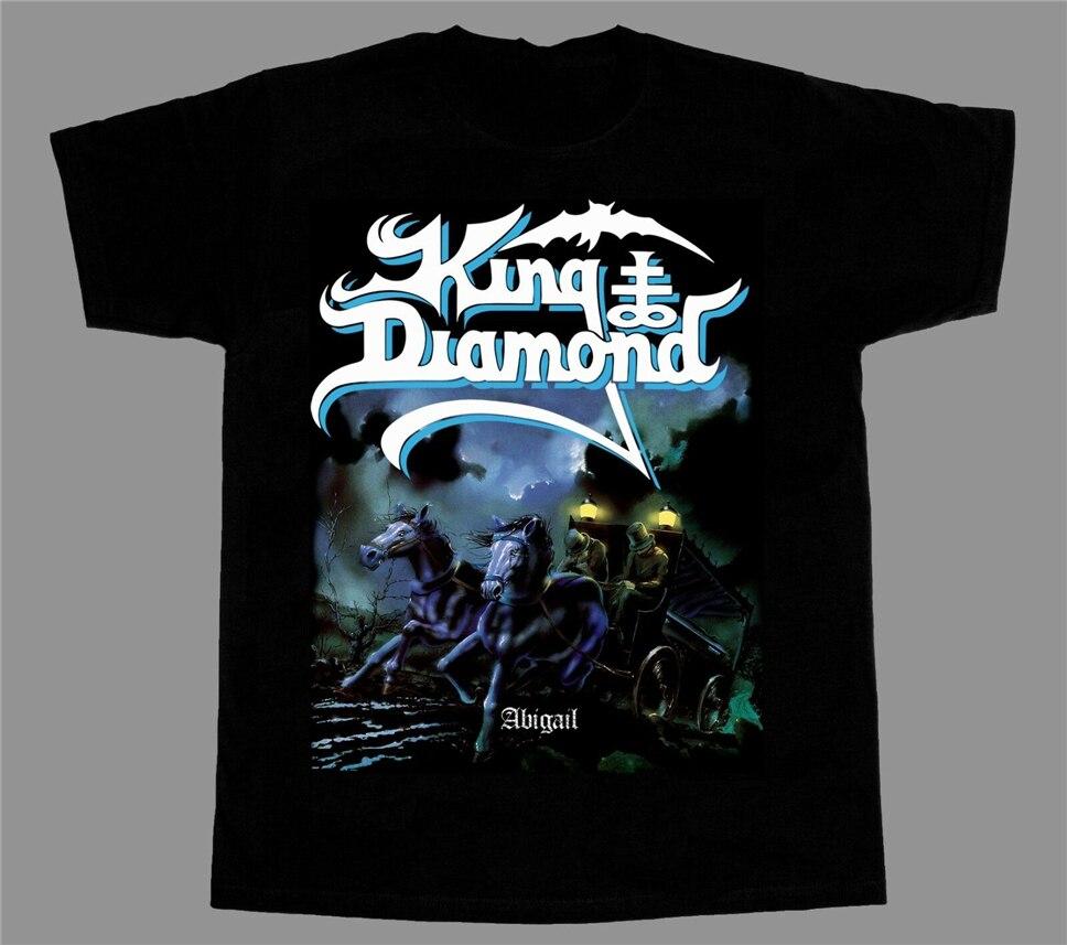 Camiseta deportiva King Diamond abivail87 Heavy Metal nueva manga corta negra
