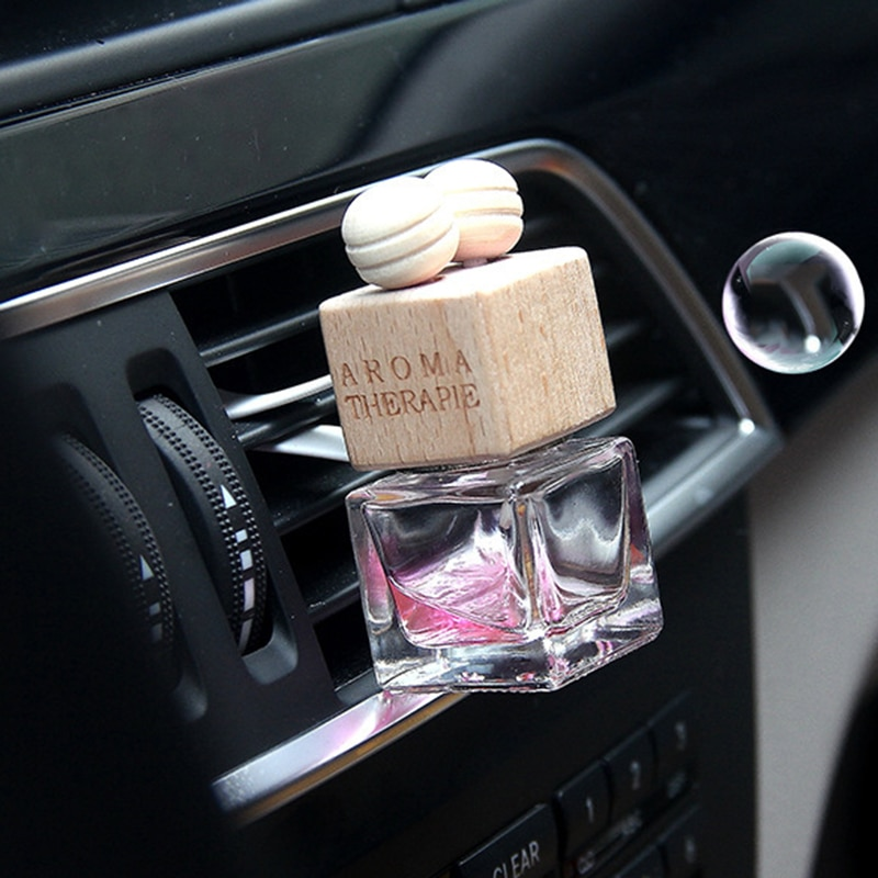 Car Accessories Auto Air Freshener Hanging Glass Bottle Auto Perfume Diffuser Bottle For Essential O