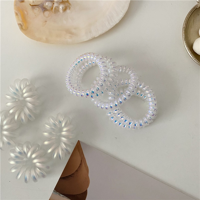 Mermaid Color Ji Ins Style Rope Korean Soft Girl Laser Shiny Phone Line Ring Headband Hair Accessori