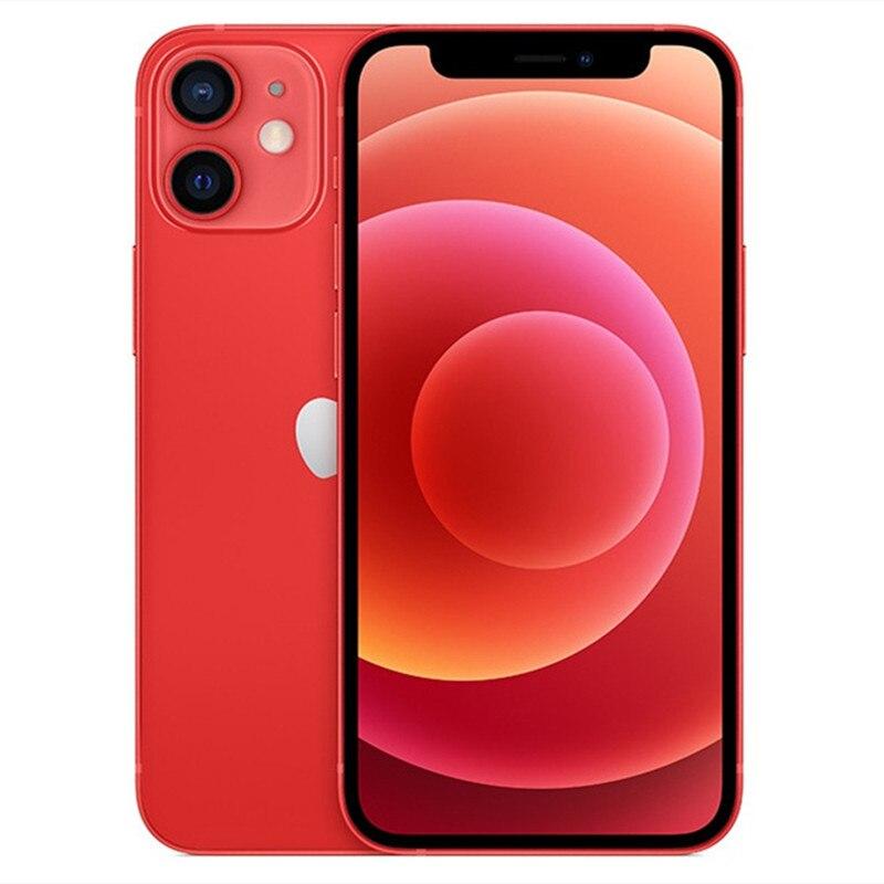 Перейти на Алиэкспресс и купить Разблокированный б/у iPhone 12 Mini IOS 5G смартфон A14 бионические приманки для рыбной ловли 256G ROM двойная 12MP камера 5,4 ''дюймовый экран сотового телеф...