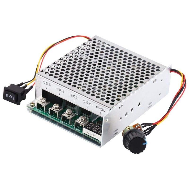 Contrôleur de vitesse de moteur à courant continu 10V-55V 40A régulateur de vitesse de moteur à courant continu commutateur de Direction dinversion avec affichage numérique