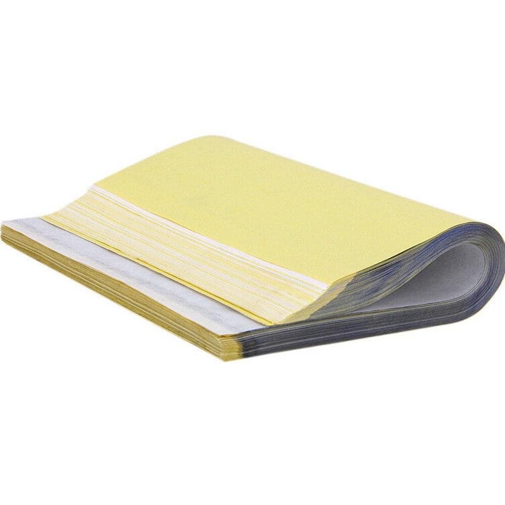 50 hojas de papel de fotocopiadora de transferencia de tatuaje, plantilla de trazado de contorno térmico, suministro nuevo