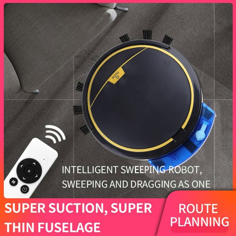 2800Pa Smart Robot Vacuum Cleaner Wet and Dry Vacuum Cleaner Mop with Water Tank Remote Control Timing