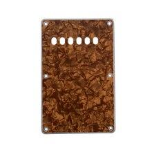 Musiclily plaque arrière de guitare 6 trous pour écuyer fabriqué en chine, perle de Bronze 4Ply