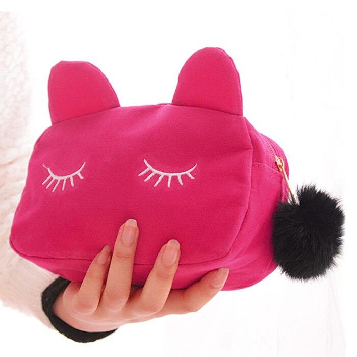 Estuche de almacenamiento de monedas de gato de dibujos animados, bolsa de...
