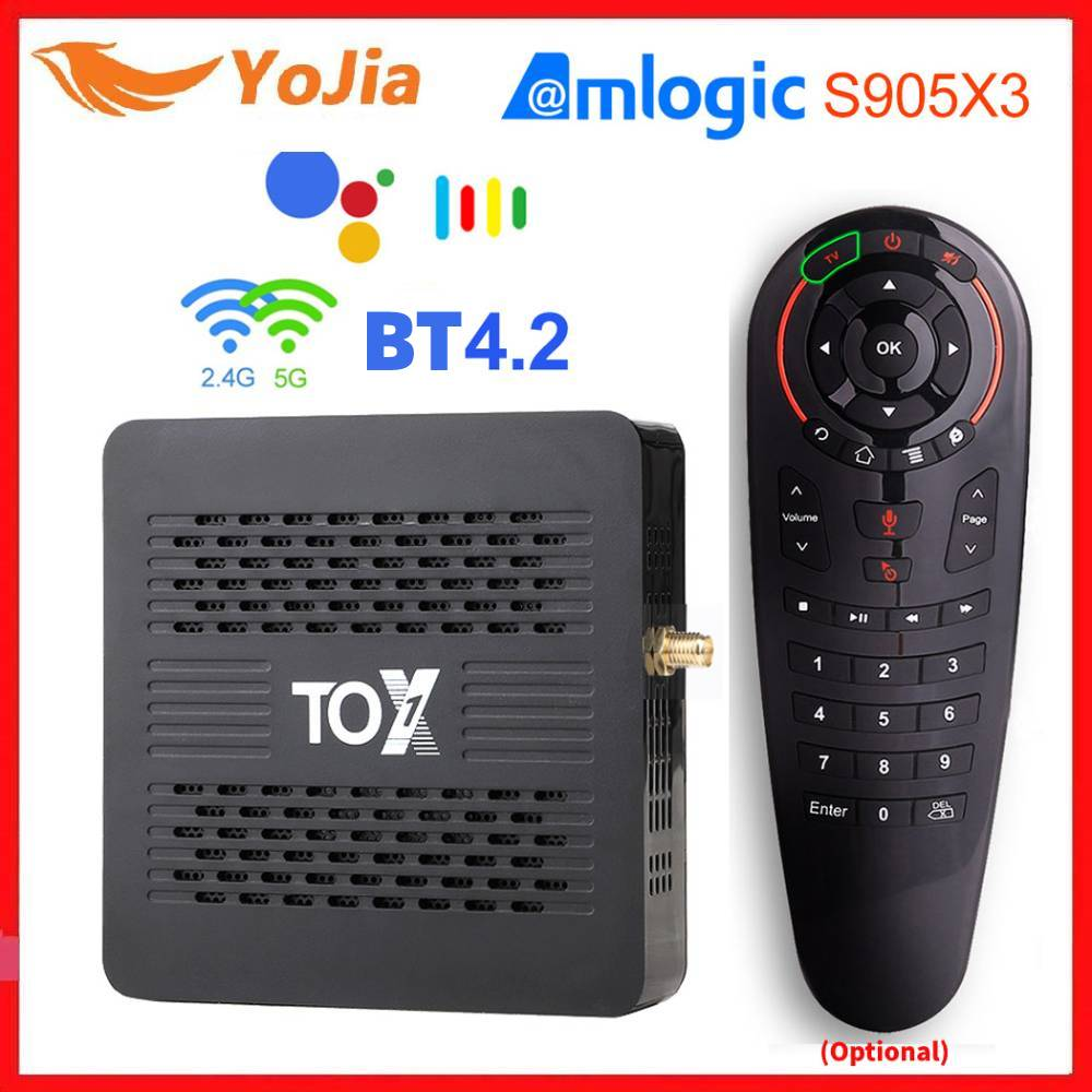 TOX1 Amlogic S905X3 Smart TV Box Android 9.0 4GB RAM 32GB ROM 5G WiFi BT 1000M 4K Media Player HD Se