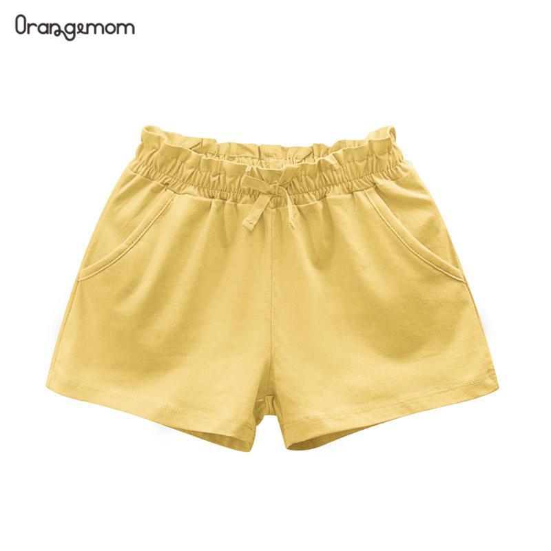 Niños Niñas pantalones cortos de Verano de 2020 nuevos niños pantalones cortos para niños de algodón de Color sólido Casual playa suelto suave Pantalón corto de bebé niña traje