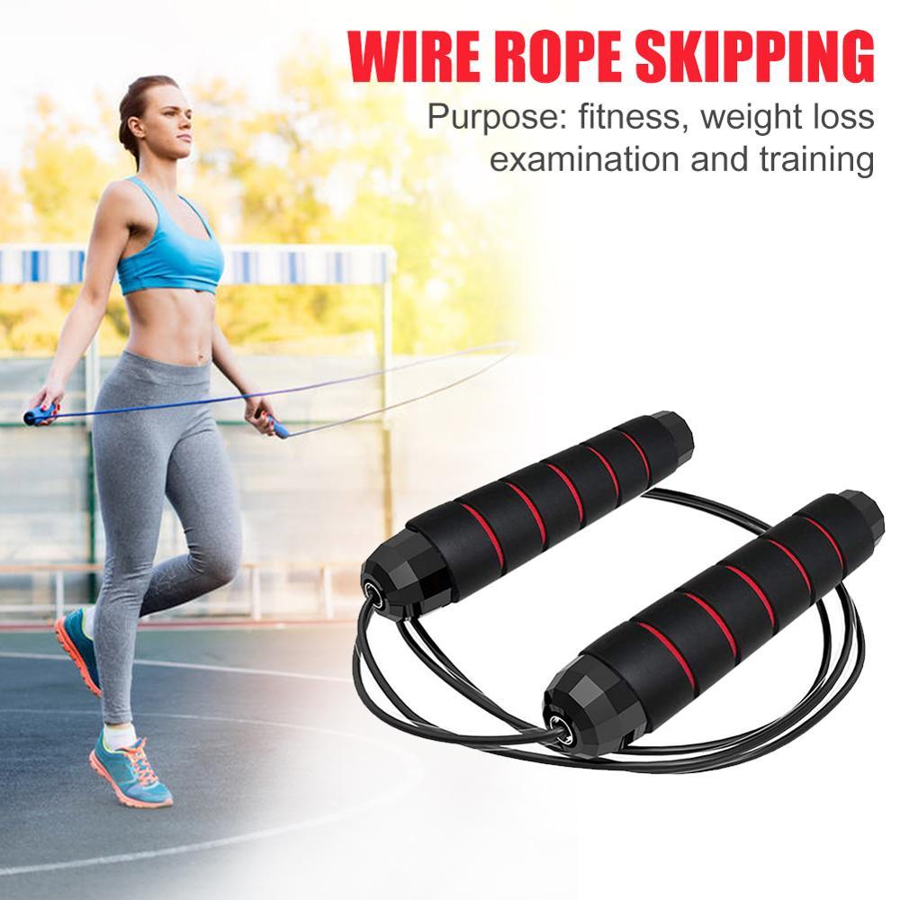 3M cuerda rodamientos saltar la cuerda ajustable cuerda de alambre de acero de formación cuerda de salto para Fitness antideslizante mango de espuma