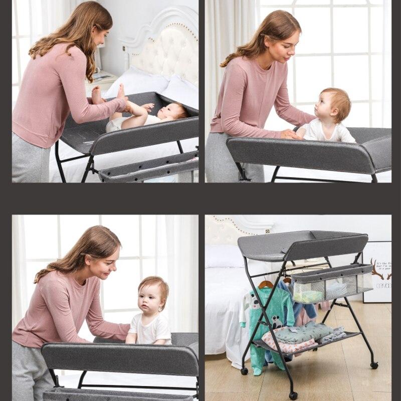 Removable Baby Kids Diaper Changing Tables Dresser Top For Best Infant Diaper Change Non-Skid Bottom Safety Strap Adjustable enlarge
