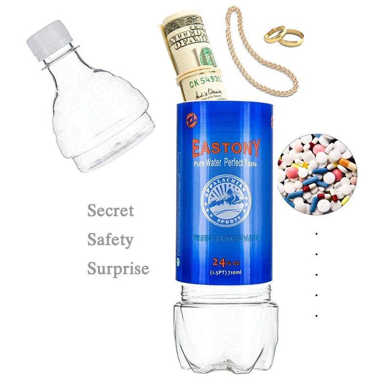 AliExpress - 710ML Water Bottle Shape Diversion Surprise Secret Hidden Security Container Stash Safe Box Plastic Stash Jars Safe Organization