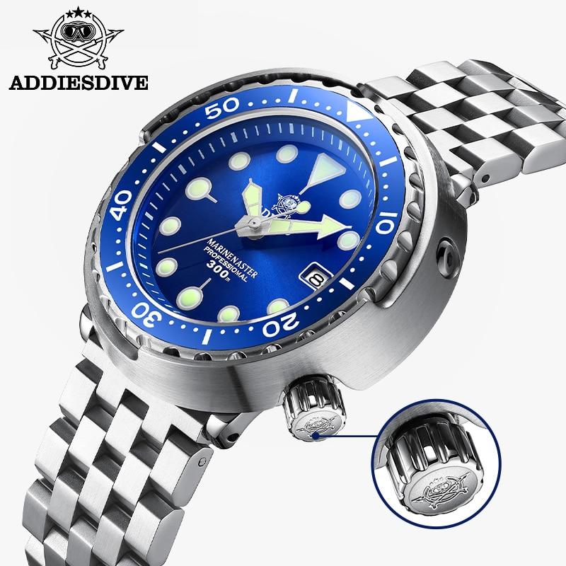 Addie الغوص التونة الغوص ساعة BGW9 مضيئة ساعة أوتوماتيكية رجل ساعة ميكانيكية السيراميك الحافة NH35 300 متر الغوص الساعات ساعة رجالي