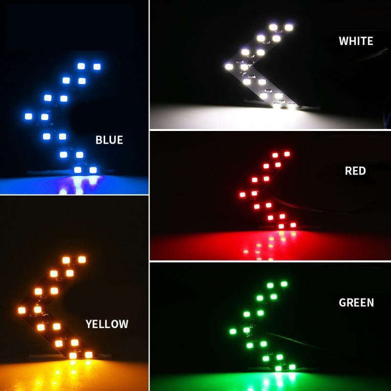 2 unids/lote 14 SMD LED panel de flechas para coche espejo retrovisor indicador de señal de giro luz LED coche luz para espejo retrovisor
