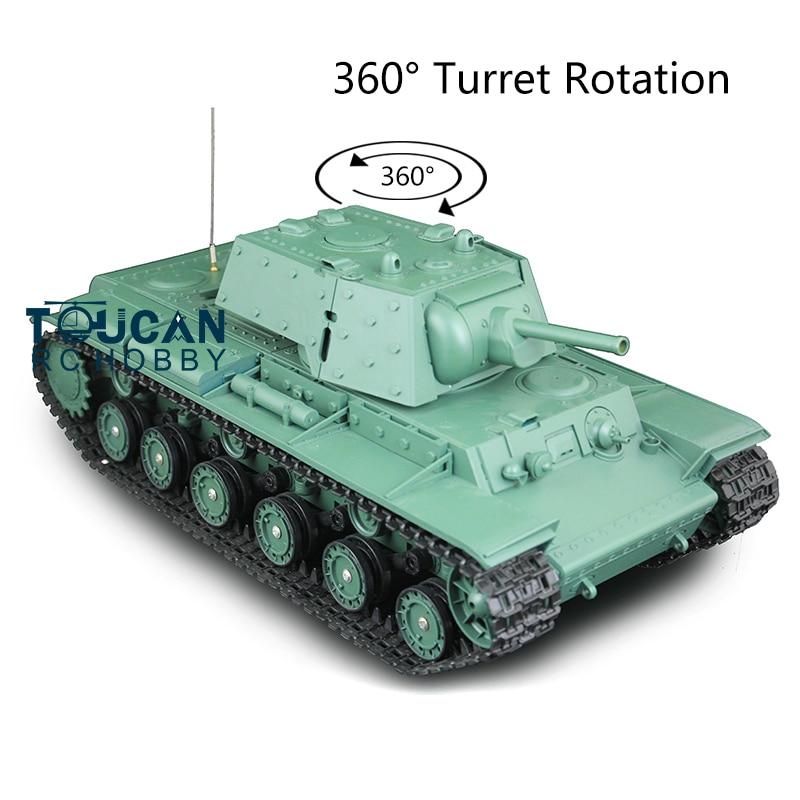 2.4g henglong 1/16 escala 6.0 placa principal plástico soviético KV-1 rtr rc tanque 3878 360 torreta th12634
