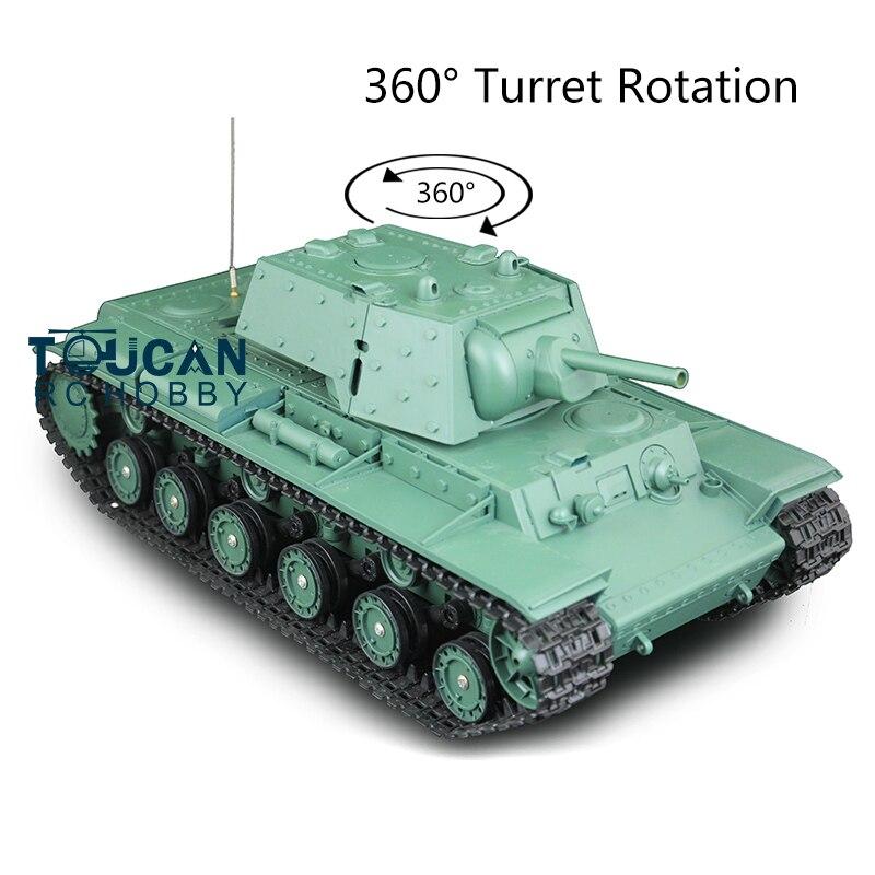 Henglong 2,4G, escala 1/16, Tablero Principal de plástico de 6,0 KV-1, tanque RTR RC, 3878 360, torreta TH12634