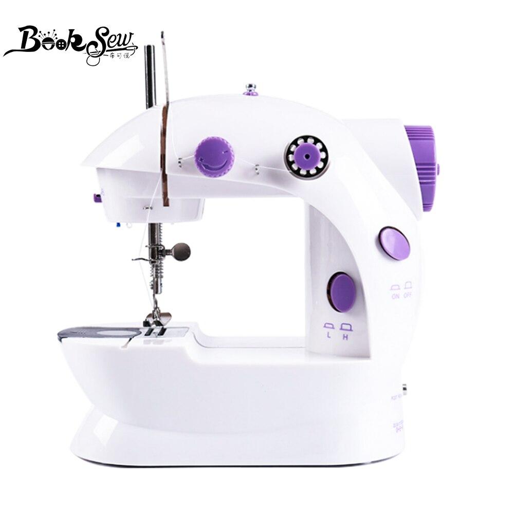 Booksew ماكينة خياطة المحمولة القاطع ضوء القدم دواسة خط مستقيم اليد الجدول اثنين موضوع عدة المنزلية الصغيرة الآلات الكهربائية