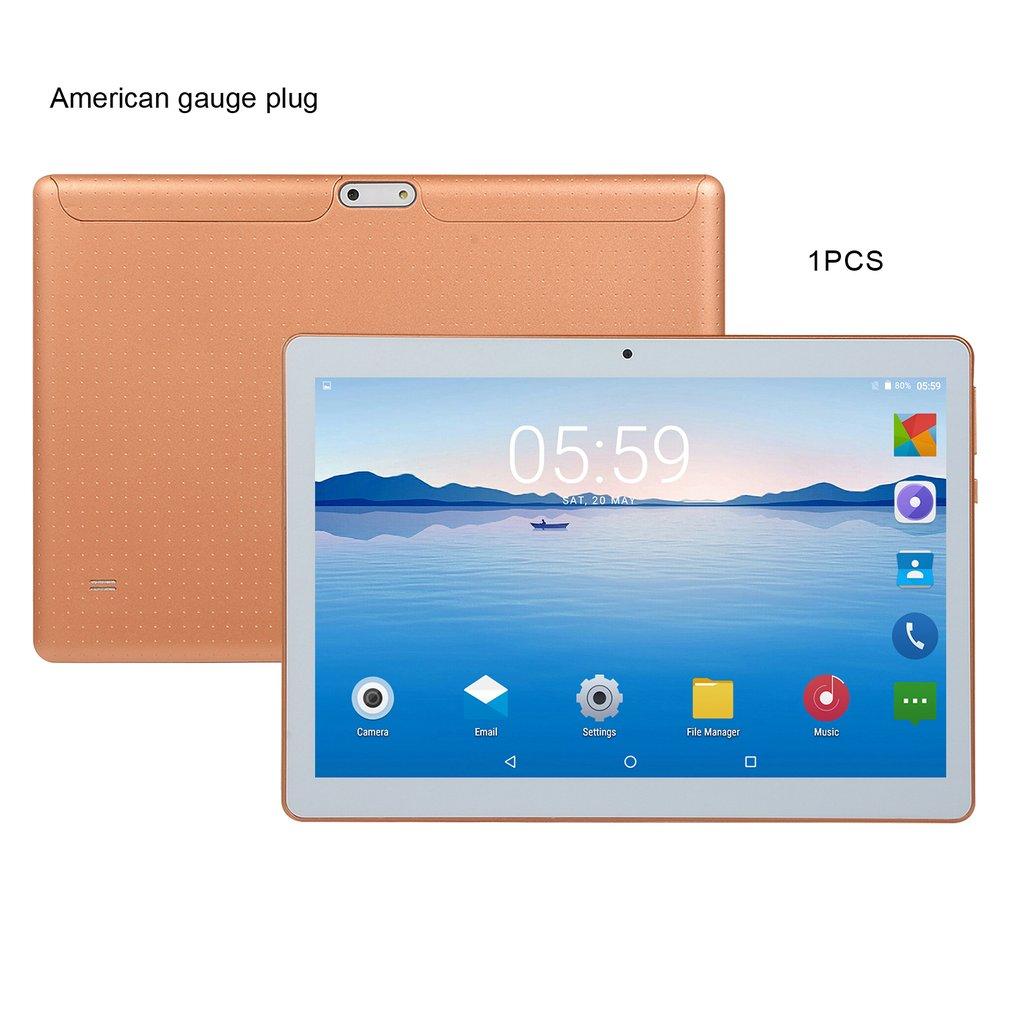 KT107 البلاستيك اللوحي 10 بوصة HD شاشة كبيرة أندرويد 8.10 نسخة الموضة المحمولة اللوحي 1G + 16G الذهب اللوحي