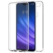 "TBOC case for Xiaomi Mi 8 Lite Mi8 Lite [6.26 ""]-Case Clear Full [Silicone TPU] Double Face [360 Degree] Mobile"
