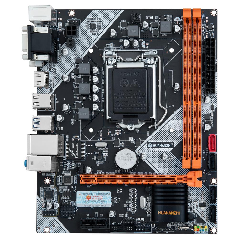 HUANANZHI B75 LGA1155 M-ATX اللوحة الأم مع VGA/HDMI/DVI منافذ الفيديو رام DDR3 2 قنوات قطع غيار للكمبيوتر وقفة واحدة الحل