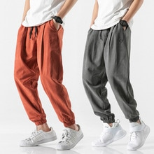 Mens Harem Pants Joggers Men 2020 New Hip Hop Loose Fit Japanese Streetwear Peach Skin Velvet Trousers Joggers Male