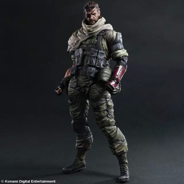 Figuras de acción de Snake Metal Gear, set de ZEROES de superficie sólida, Play Arts Kai Snake Solidus PA, 25cm de PVC, juguetes para niños, regalo