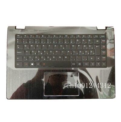 غلاف علوي لجهاز Lenovo yoga 3 14 ، غطاء مسند المعصم العلوي ، لوحة اللمس ، غلاف C أسود ، لوحة مفاتيح ألمانية ، 5CB0H35638 ، جديد/orig