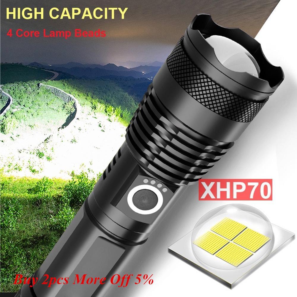 120000 люменов XLamp XHP70.2 самый мощный светодиодный фонарь с USB Zoom фонарь XHP70 XHP50 18650 26650 фонарик с перезаряжаемой батареей