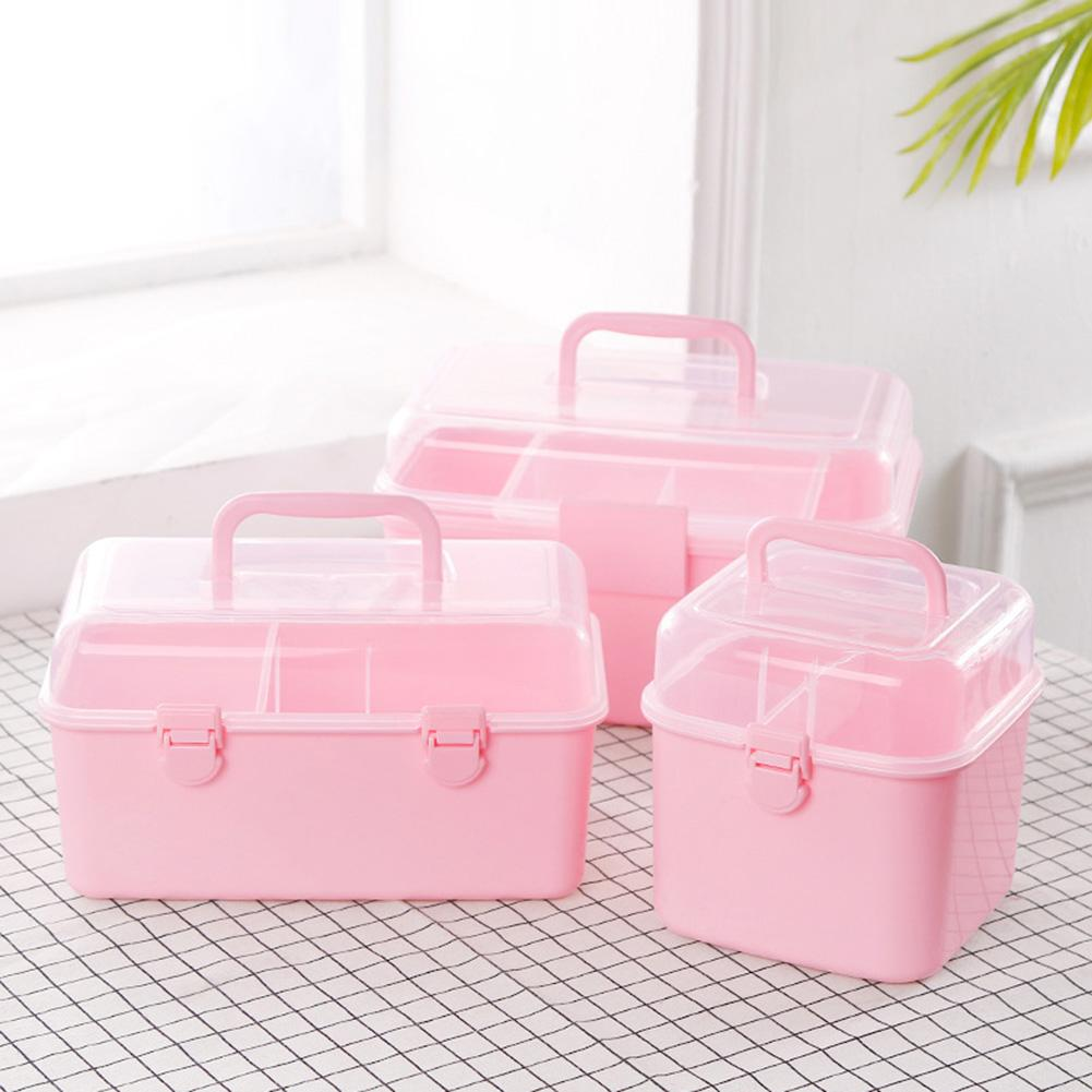 Medicine Box 2 Layer Emergency First Aid Kit Storage Box Container Organizer