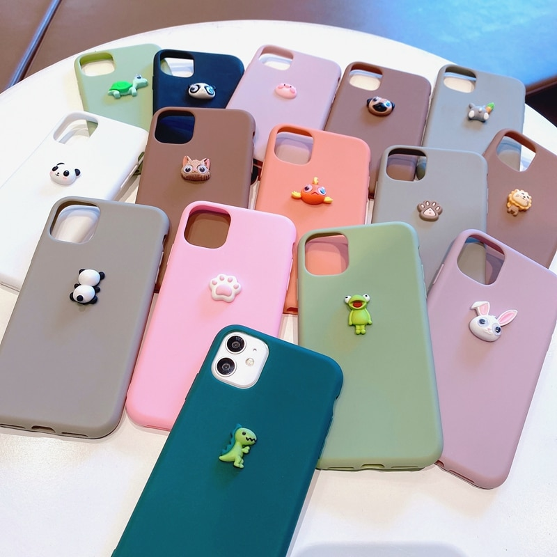 3D Cute Cat Animal Silicone Case For Huawei Nova 3i 3 5T 5 5i Pro Nova 6 4G 5G 7 8 SE 5i 7i 4 4E 3E Nova 2i Soft TPU Phone Case