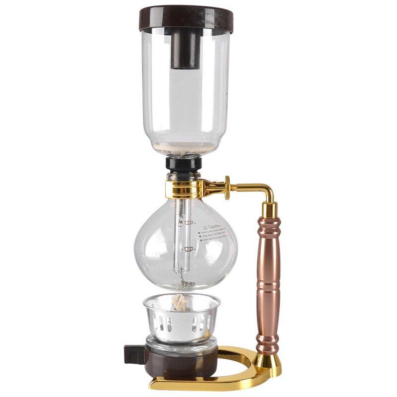 Style japonais Siphon cafetière Siphon Pot vide cafetière Type verre Machine à café filtre avec mèche/Flter/cuillère 3cup
