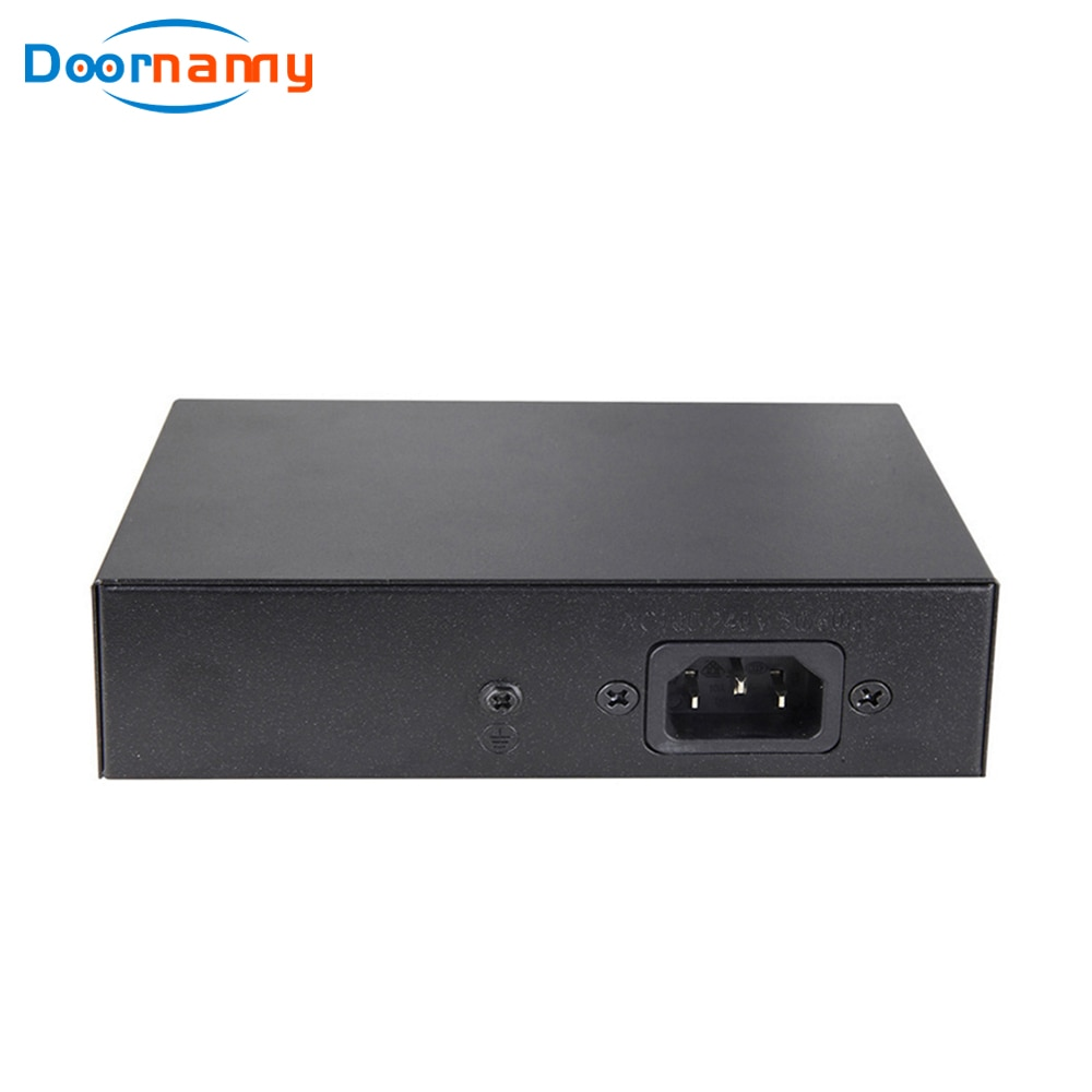 Doornanny PoE Switch 2+4Port Net Work Switch IP Ethernet IEEE 802.3af/at Suitable for IP Camera/Wireless AP/CCTV Camera enlarge