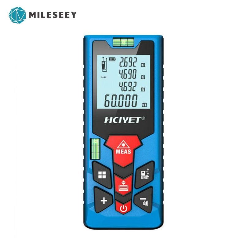 Mileseey Rechargeable MINI Meters Laser Distance Meter Rangefinder Finder Handheld Measure Accurate measuring handheld laser distance meter 100 meters infrared electronic ruler room measuring instrument
