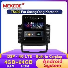 MEKEDE 4 + 64G android version Auto Radio Video Player Multimedia GPS Navigation für SSANGYONG KORANDO 2011-2013 stereo DSP